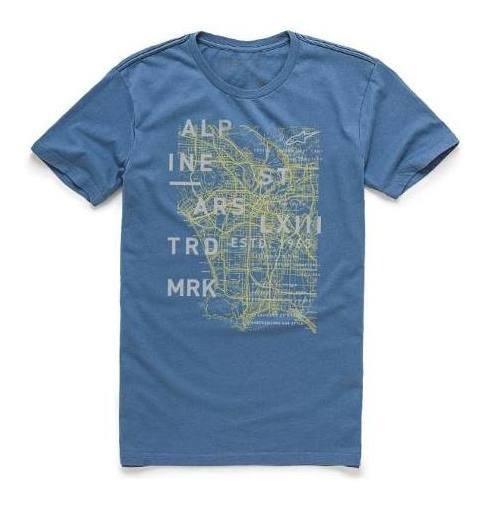 Camisa Alpinestars Map Azul Tamanho L