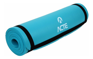 Colchonete Tapete Exercícios Físicos Yoga Azul T54 Acte