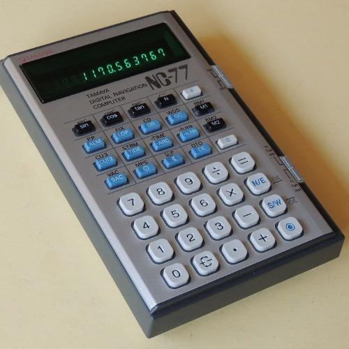 Antiga Calculadora Tamaya Nc-77 Computador Navegação