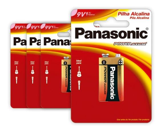4 Baterias Alcalinas Panasonic 9v