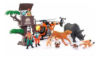 Playset Animales + Accesorios Grande 3 Modelos Wabro