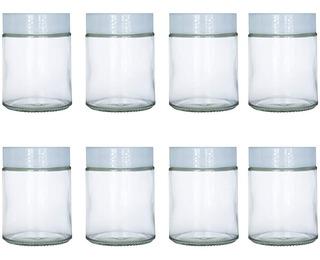 Frascos De Vidrio De 6 Onzas Para Yogourt Set X 8