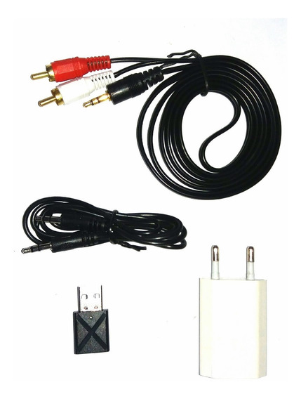 Kit Adaptador Bluetooth P/ Sons Antigos Cabo + Fonte + App