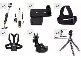 Acessórios Para Action Cam Ventosa Cabeça Presilha