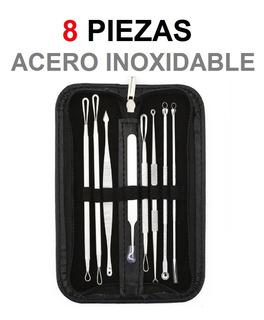 Extractor Puntos Negros Espinillas Acné Kit X 8 Un