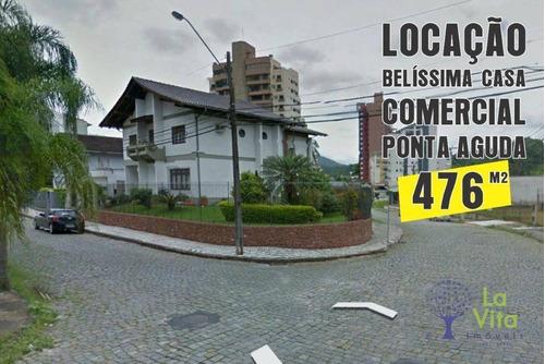 Imagem 1 de 7 de Belíssima Casa Comercial, À Venda E Locação - Aluguel, Bairro Ponta Aguda - Blumenau Sc - Ca0569