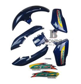 Kit Carenagem Cg 125 Titan 99/00 Azul Metalico