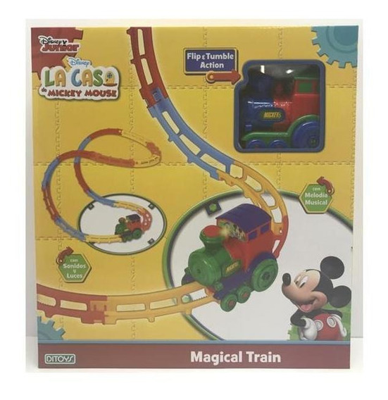 Juguete Tren Magico Mickey Mouse Donald Ditoys Magical Train