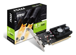 Placa de video Nvidia MSI GeForce GTX 10 Series GT 1030 GEFORCE GT 1030 2G LP OC OC Edition 2GB