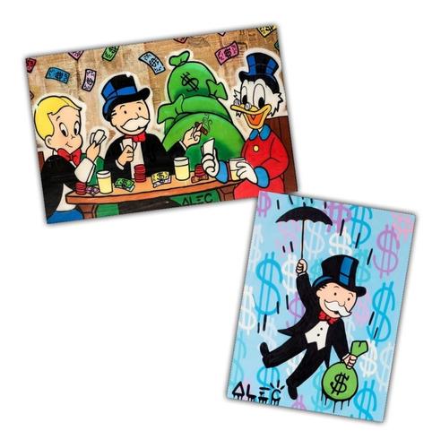 Kit 2 Posters Alec Monopoly Grafite Arte 50x75cm + 60x80cm