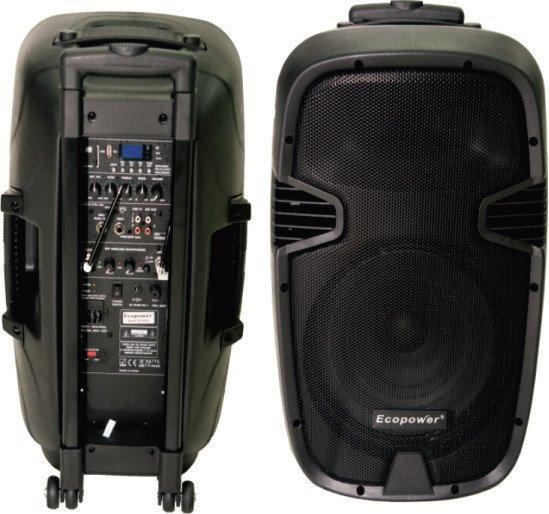 Ecopower Ep-s302 12 Pol. 800w Usb Sd 2 Mics S/ Fio Bateria