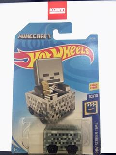 2018 Minecart Hw Screen Time Minecraft Hot Wheels Koban