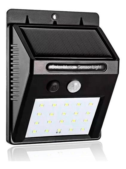 Kit 2 Luminária Solar 40w Sensor De Presença E Movimento