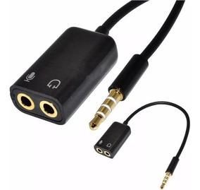 Adaptador P3 X P2 P/usar Microfone Lapela E Fone Em Celular