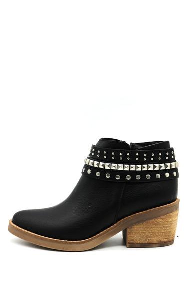Zapatos Botas Botinetas Botitas Mujer Cuero Negro Leblu 805