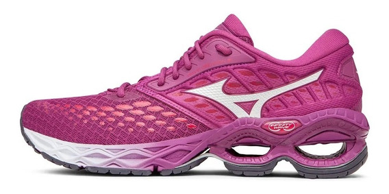 Tenis Feminino Mizuno Wave Creation 21 - Rosa Original Promo