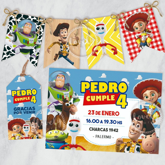 Kit Imprimible Toy Story. Cumpleaños + Deco + Candy Bar