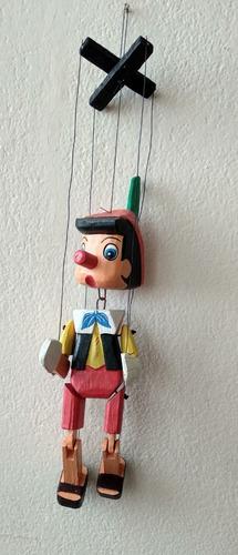 Marioneta De Pinocho De 25 Cm.
