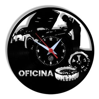 4 Relógios Kit 2 Modelos Oficina 2 Bules Com Xícara Arte Lp