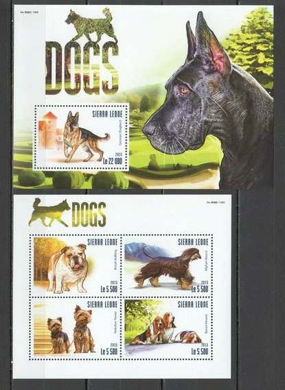 2015 Fauna- Animales Domésticos- Perros - Sierra Leona Mnh