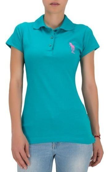 Playera Casual Hpc Polo Verde Azul Aqua