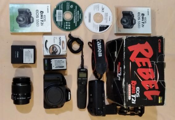 Camara Canon Eos Rebel T2i (550d) + Accesorios 250