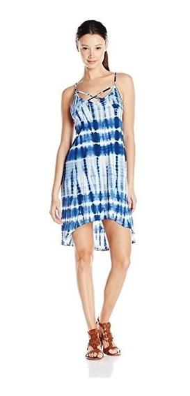 Vestido Volcom Paint Box Tie-dye Azul Marino Talla L