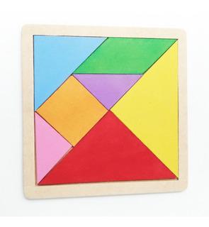 Rompecabezas Tangram Madera Juguetes Didácticos - Jdm-001