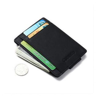 Carteira Masculina Slim Couro P/ Identidade Cédulas Cartões