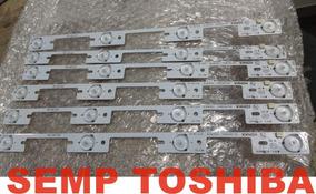 O Kit 6 Barra Led Semp Toshiba 40l2400 40l5400 -