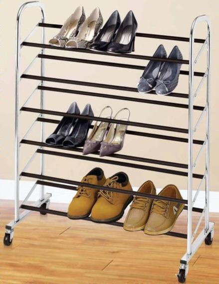 Sapateira Em Aço Rodas Travas Até 30 Pares Sapatos