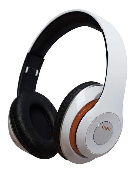 Fone De Ouvido Bluetooth Headset Balance Hs301 Branco - Oex