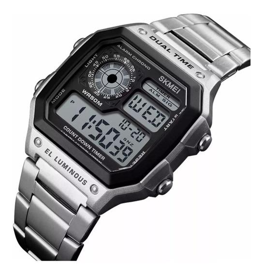 Relógio Masculino Skmei 1335 Original Aço Retro C Nf-e
