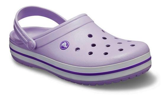 Sandalia Crocs Crocband Mujer Lavanda Purple Original