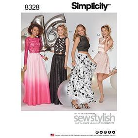 dca39ecd1 Simplicidad 8328 Patrón De Costura Para Vestido Tallas Ocasi