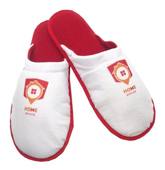 Kit 10 Pares Pantufa 1027 Home Office Sua Logo Personalizada