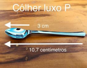 50 Colher Luxo P 10,7 Centímetros Ovo De Páscoa Sobremesa