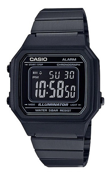 Relógio Casio Vintage Preto Unissex B650wb-1bdf Original