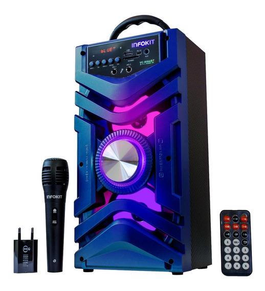 Caixa De Som Amplificada Portátil Bateria Bluetooth Fm 500w