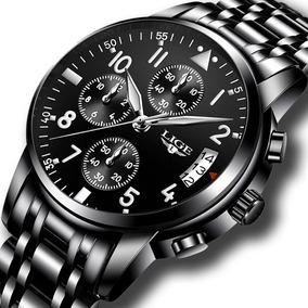 Relógio Masculino Importado Luxo Calendário Original