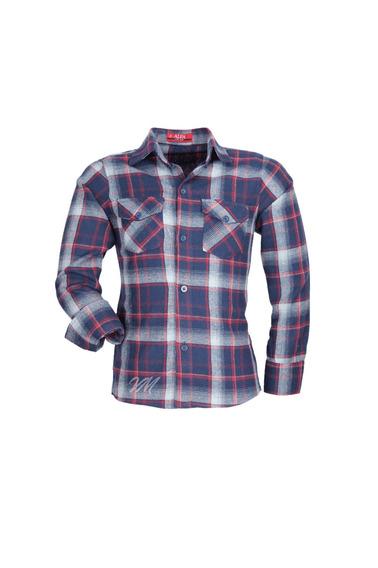Camisa Infantil Alfa Tecido Algodão Xadrez Junino - Cor 04