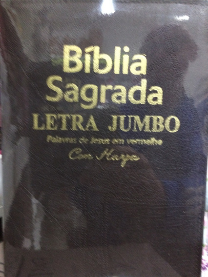 Bíblia Jumbo Cp Soft Luxo Preta Com Harpa E Corinhos+indice