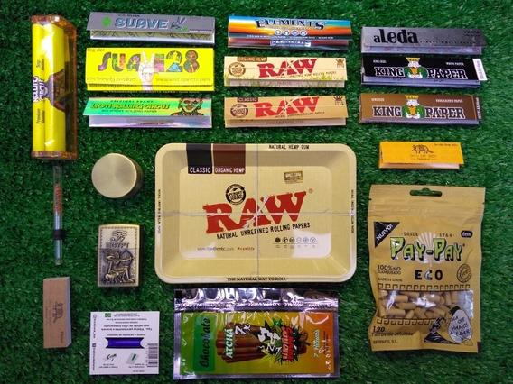 Kit Fumo Seda Raw Aleda King Paper Bolador Dichavador E +
