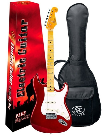 Guitarra Stratocaster Sx Sst57 Vintage Candy Apple Red