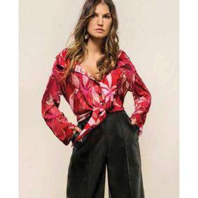 5d077f9c9 Camisa G Feminina Rosa Pink Tencel Manga 3/4 - Camisetas e Blusas no ...