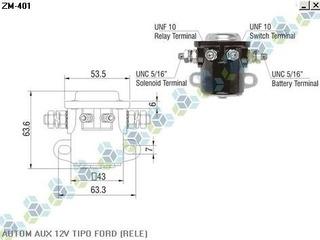 Automatico Auxiliar Motor Partida 12v Tipo Ford (rele)+frete