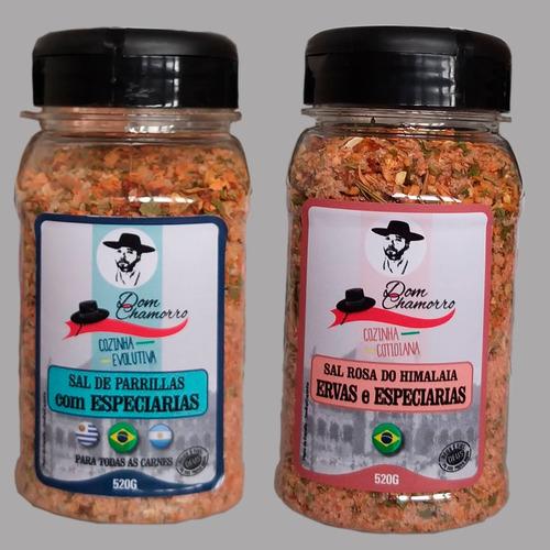 Kit Sal Parrilla Especiarias Sal Rosa/himalaia Dom Chamorro