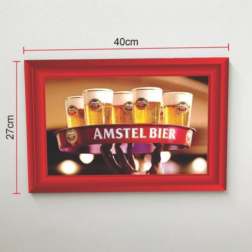 Quadro 40x27 Cerveja Amstel Modelo 4