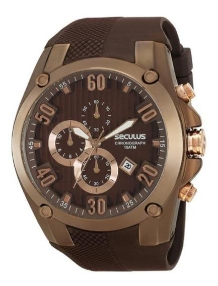 Relógio Seculus Masculino Chronograph 10atm