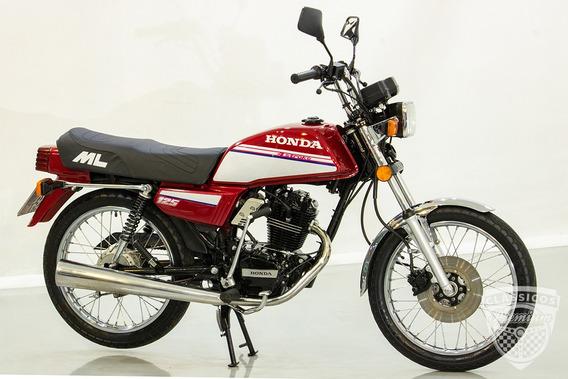 Honda Ml 125 1987 87 - Original - Antiga - Vermelha - Ohc